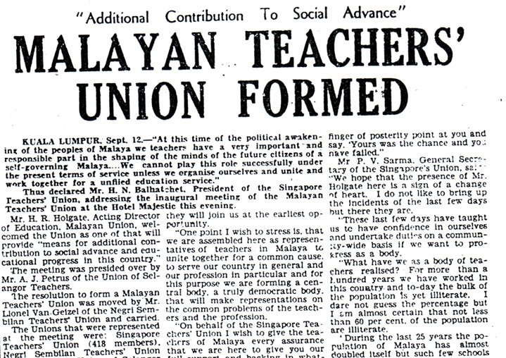 malayan-teachers-union-formed